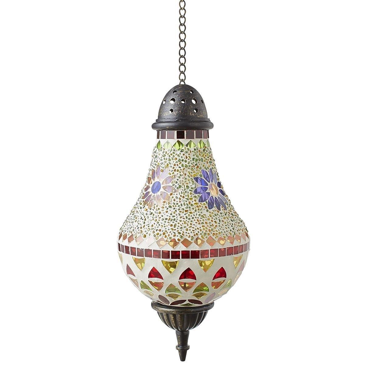 Mosaic Flower Hanging Lantern (View 10 of 20)