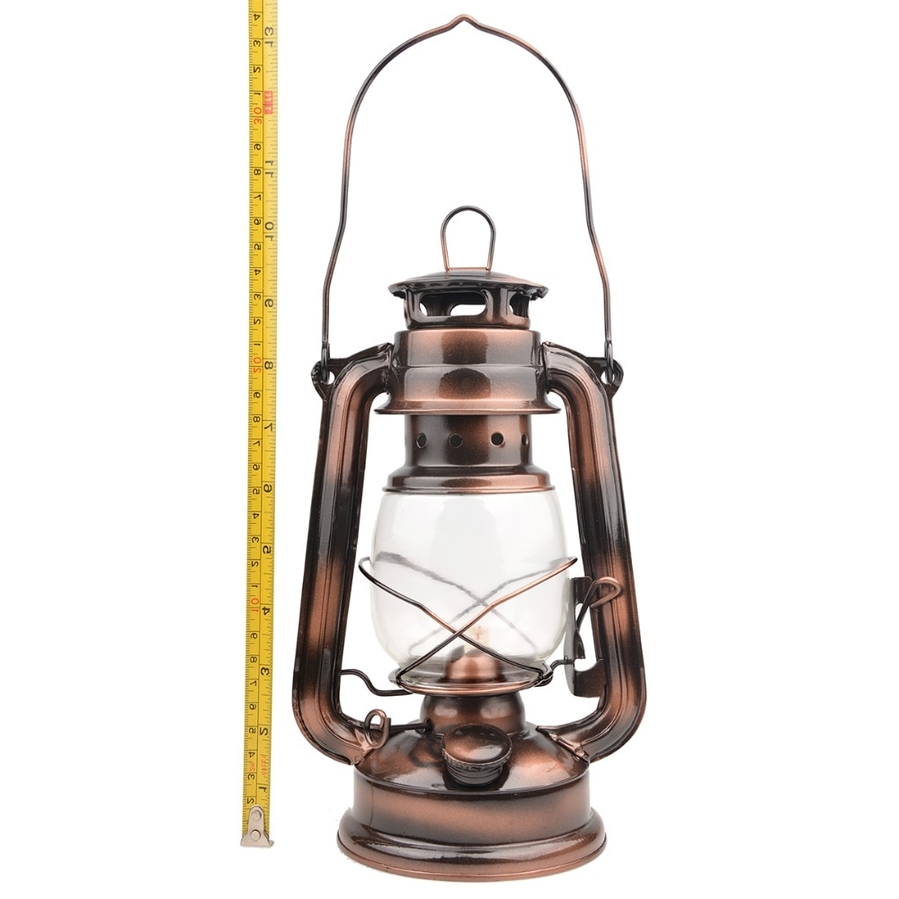 Most Current 25cm Iron Antique Bronze Oil Lanterns (cover) Nostalgic Portable With Outdoor Oil Lanterns (View 3 of 20)