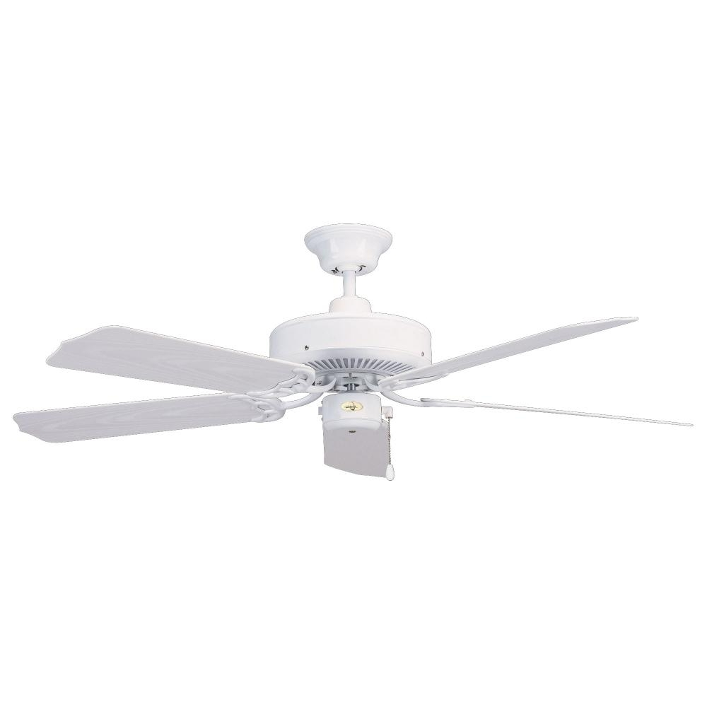 Most Current 44 Inch Outdoor Ceiling Fans With Lights For Concordluminance 44 Inch Nautika Outdoor Ceiling Fan – White : + (View 12 of 20)