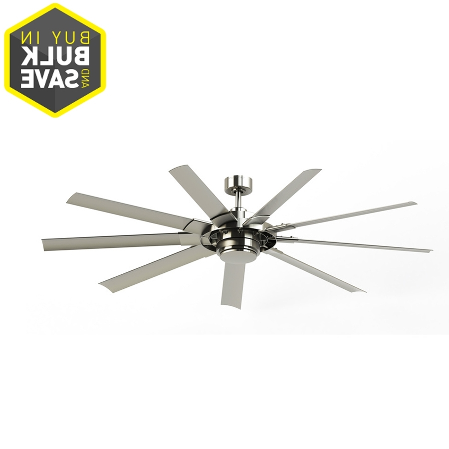 Most Current Brushed Nickel Outdoor Ceiling Fans With Light Within Shop Ceiling Fans At Lowes (View 9 of 20)