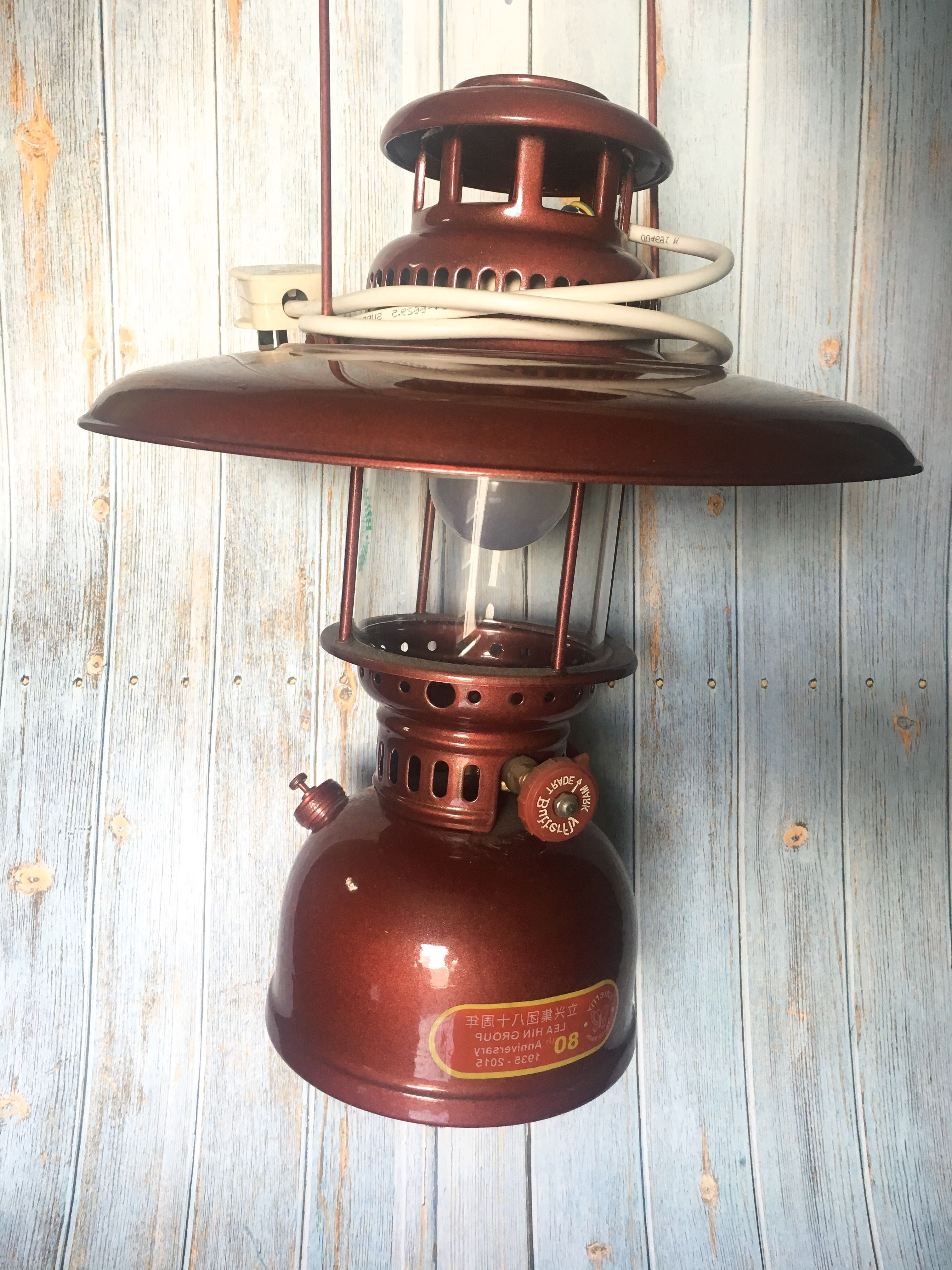 Most Current Can Nego* Vintage Kerosene Lamp Maroon Antique With Led Light Bulb In Decorative Outdoor Kerosene Lanterns (View 13 of 20)