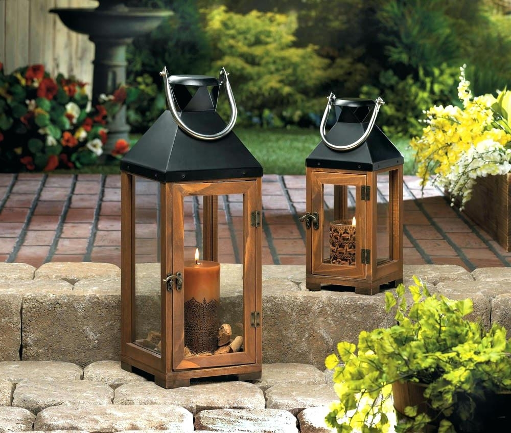 Most Current Candles ~ Large Garden Candle Lanterns Wholesale Lantern Cheap Within Large Outdoor Lanterns (View 7 of 20)