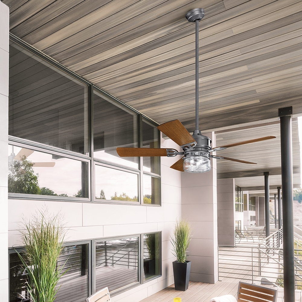 Most Current Ceiling Fan: Inspiring Outside Ceiling Fans For Home Kichler Ceiling Throughout Outdoor Ceiling Fans At Kichler (View 9 of 20)
