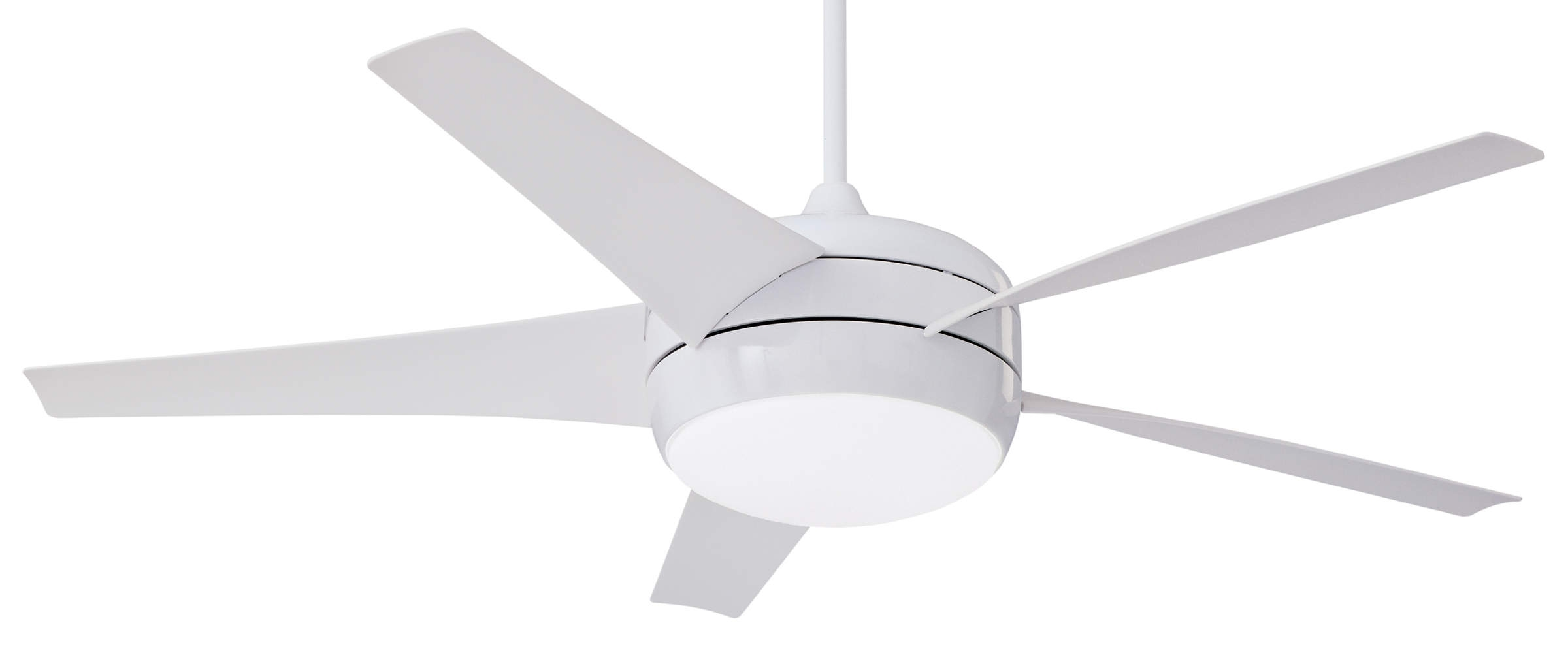 Most Current Emerson Midway Eco Dc Motor Ceiling Fan Cfww In Gloss White With In Low Profile Outdoor Ceiling Fans With Lights (View 19 of 20)