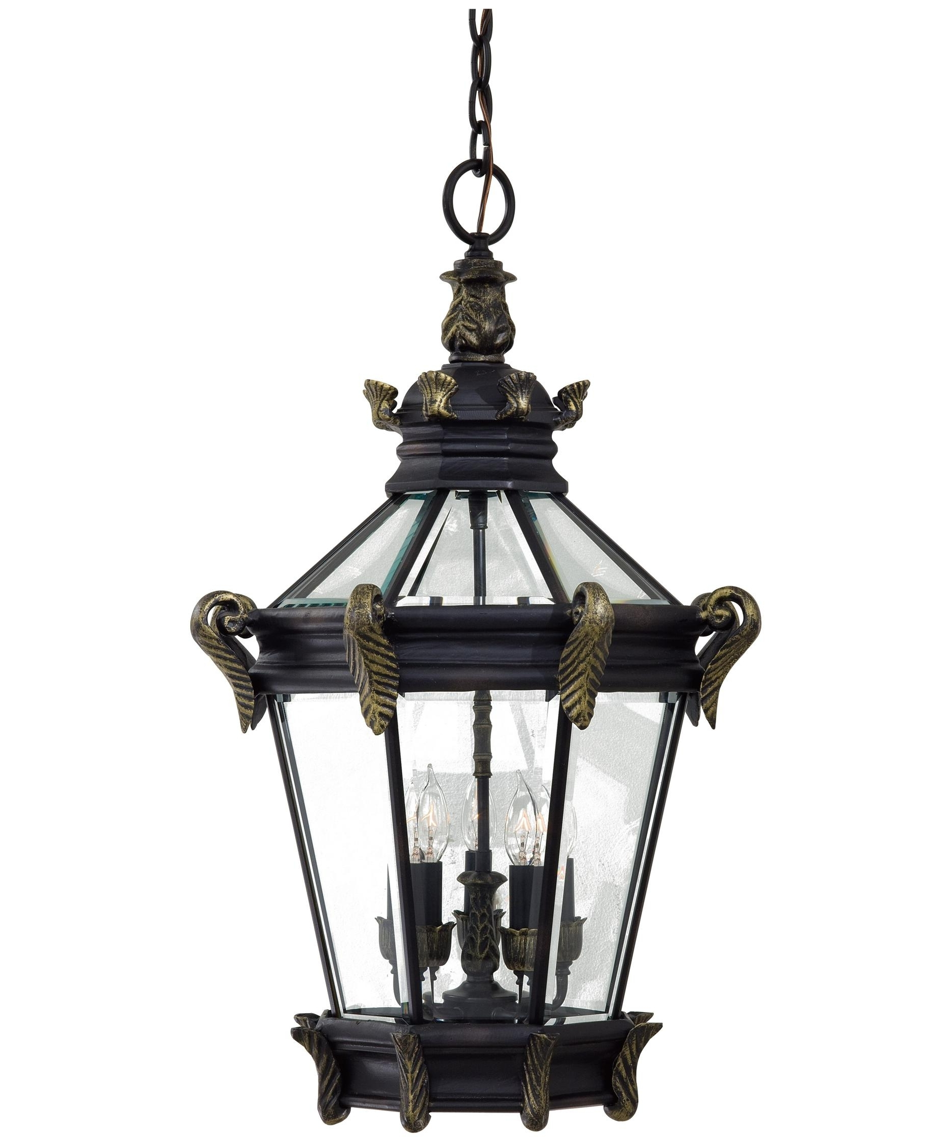 Most Current Gold Outdoor Lanterns Regarding Minka Lavery 8934 Stratford Hall 19 Inch Wide 5 Light Outdoor (View 14 of 20)
