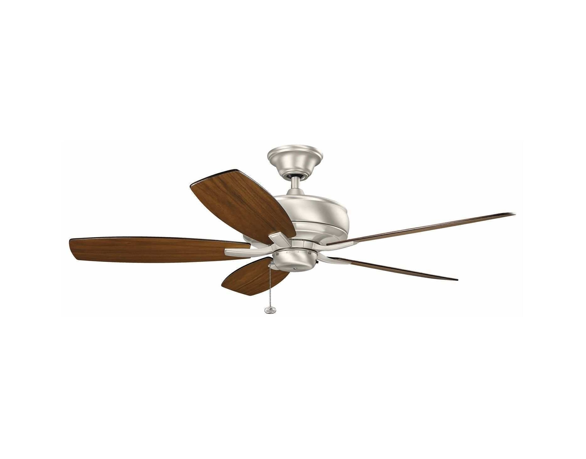 """Most Current High Cfm Outdoor Ceiling Fan New 52"""" Terra Ceiling Fan In Brushed In Outdoor Ceiling Fans With High Cfm (View 12 of 20)"""