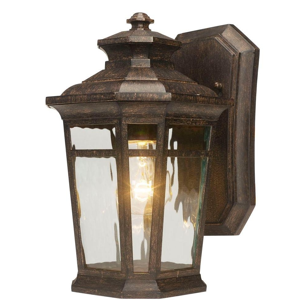 Most Current Home Depot Outdoor Lanterns Within Home Decorators Collection Waterton 1 Light Dark Ridge Bronze (View 10 of 20)