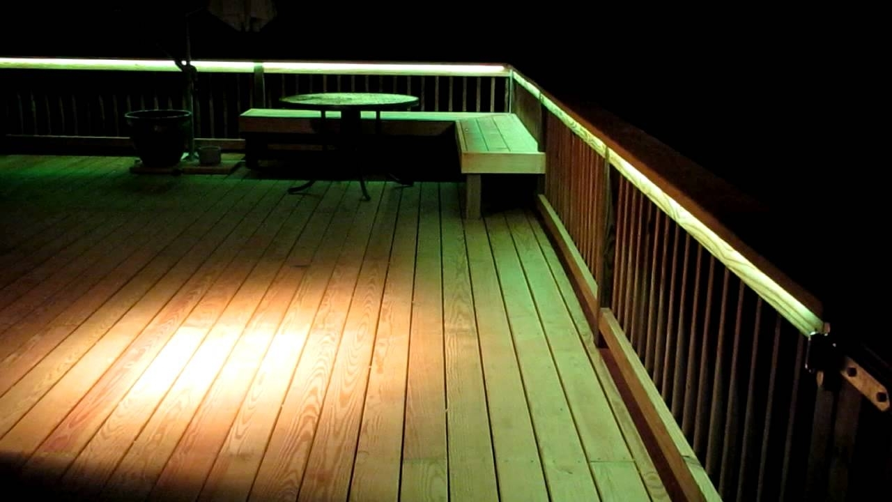 Most Current Led Deck Lighting – Youtube For Outdoor Deck Lanterns (View 12 of 20)