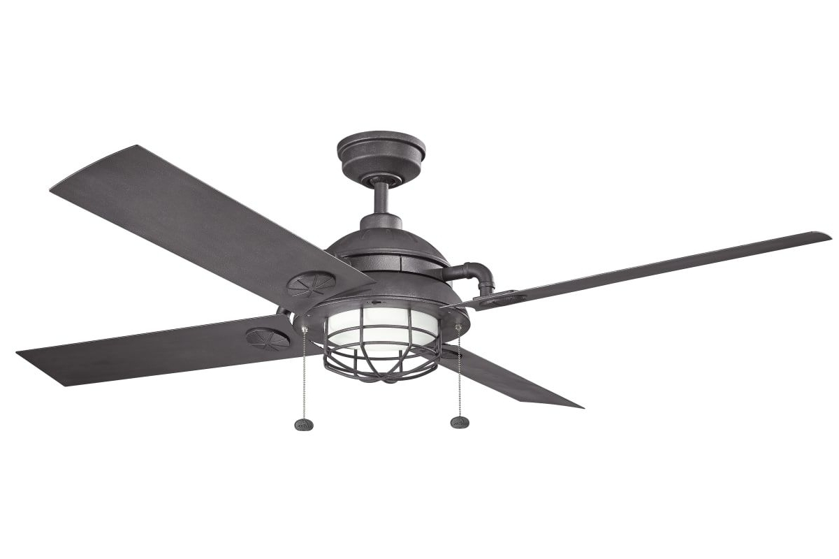 "Most Current Outdoor Ceiling Fans For Barns Intended For Kichler 310136 Maor 65"" Indoor / Outdoor Ceiling Fan With Blades And (View 9 of 20)"