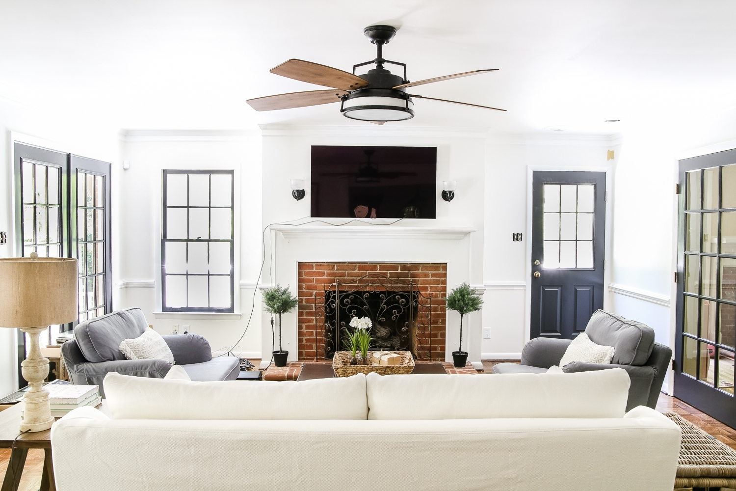 Most Current Outdoor Ceiling Fans Under $50 With Living Room Update: Ceiling Fan Swap – Bless'er House (View 6 of 20)