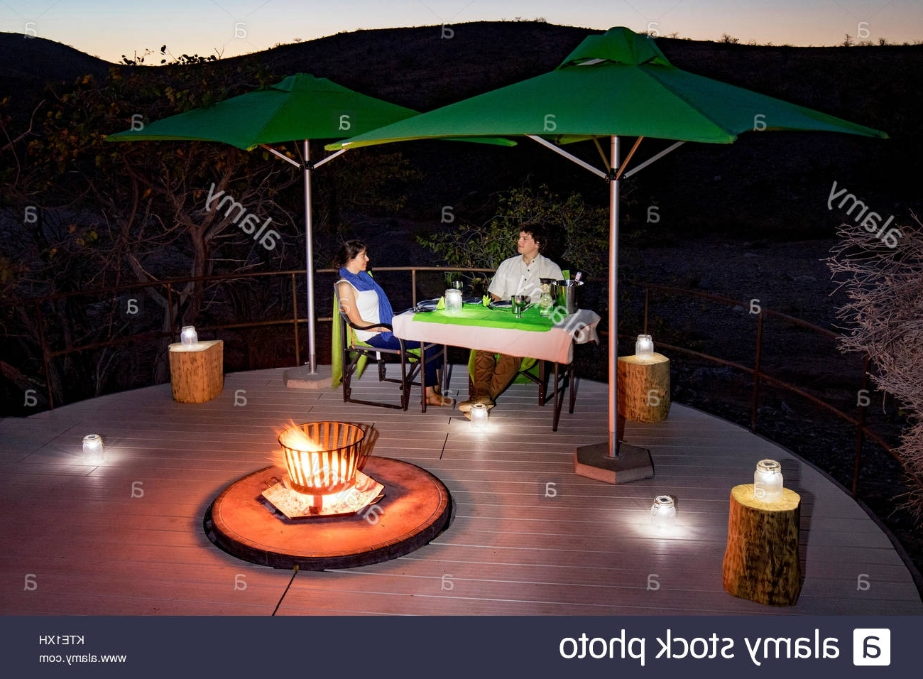 Most Current Outdoor Dining Lanterns With Regard To Romantic Outdoor Dinner Lanterns Stock Photos & Romantic Outdoor (View 19 of 20)