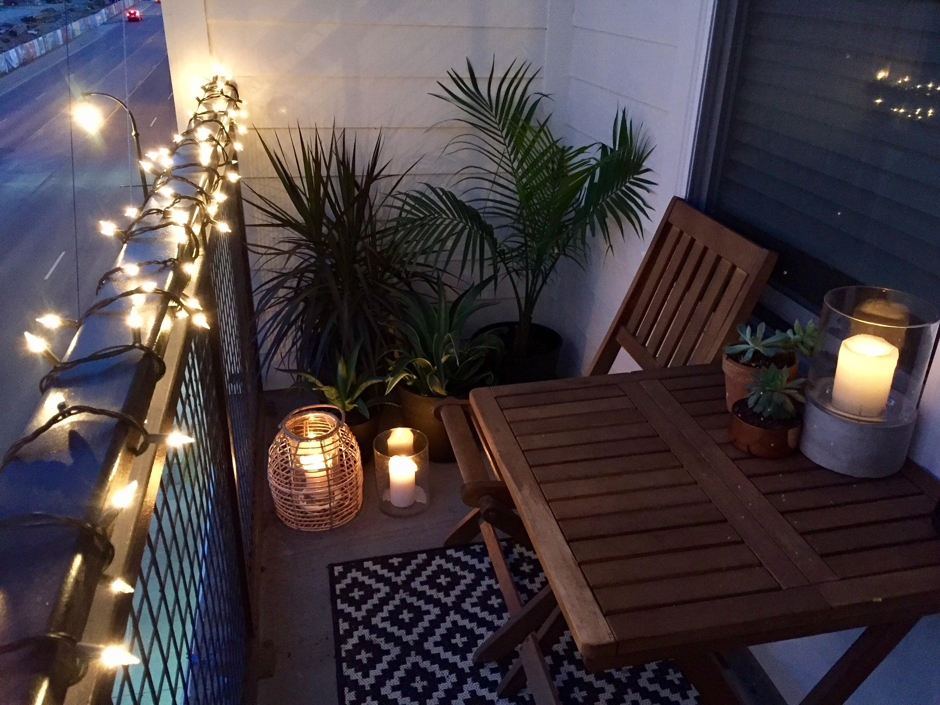 Most Current Outdoor Lanterns At Target Throughout Small Balcony Design Ideas (View 4 of 20)