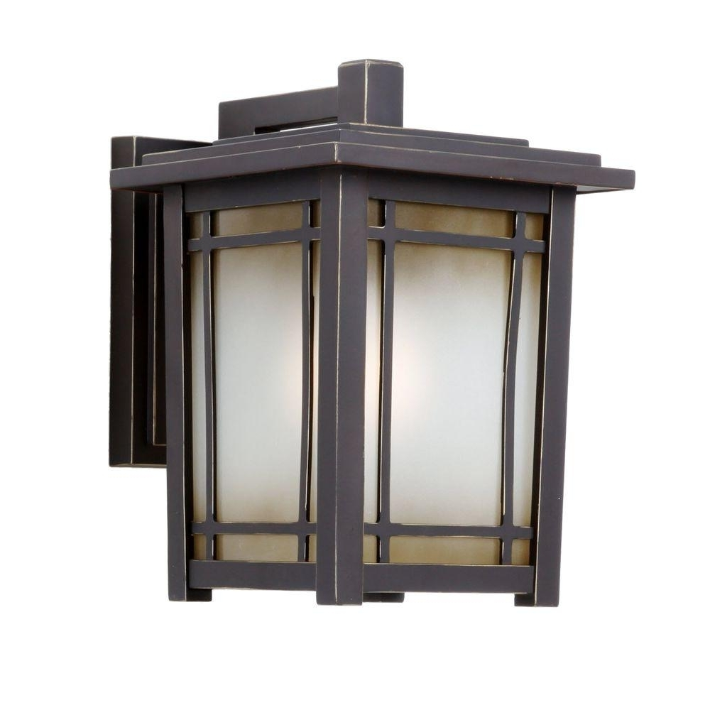 Most Current Outdoor Lanterns For Garage Intended For Home Decorators Collection Port Oxford 1 Light Oil Rubbed Chestnut (View 16 of 20)