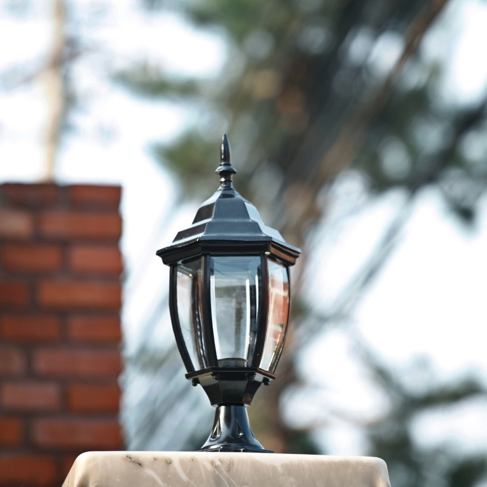 Most Current Outdoor Lanterns For Pillars With Homestia 1pc 85v 280v Pillar Fence Lights Outdoor Lamp Post Cap (View 20 of 20)