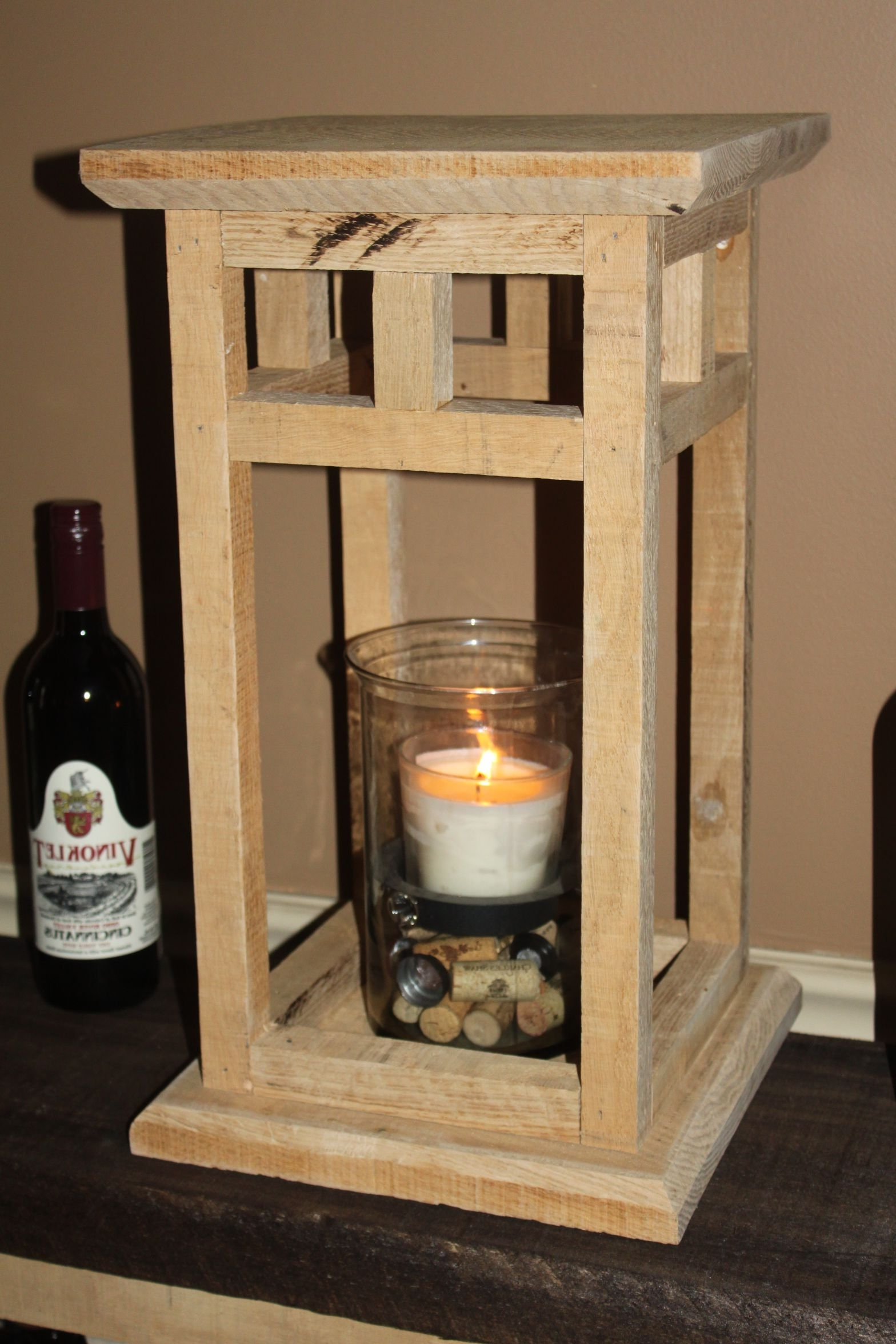 Most Current Outdoor Oversized Lanterns Intended For The Diy Rustic Wood Lantern Project – Made From Pallets! (View 13 of 20)