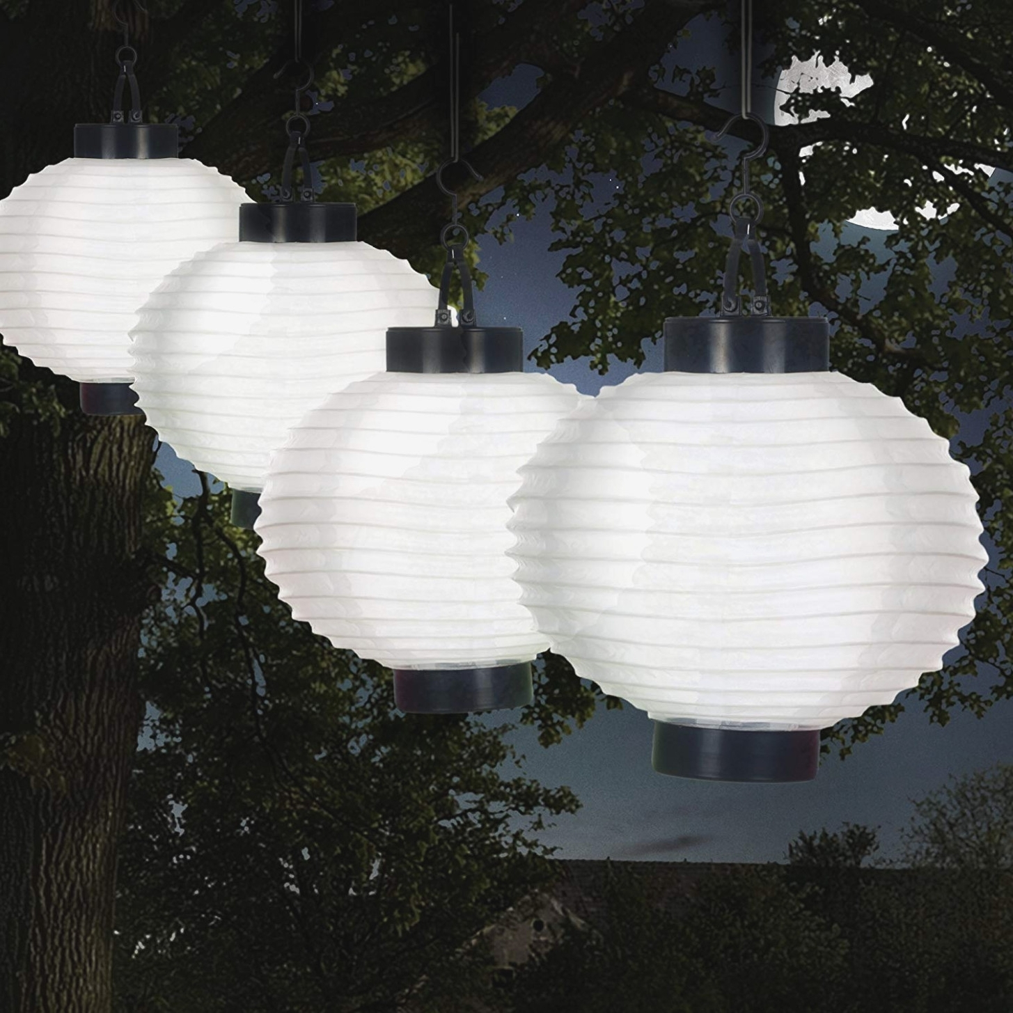 Most Current Outdoor Paper Lanterns For Patio For Amazon: Pure Garden 40 40 W Outdoor Solar Chinese Led Lanterns (View 5 of 20)