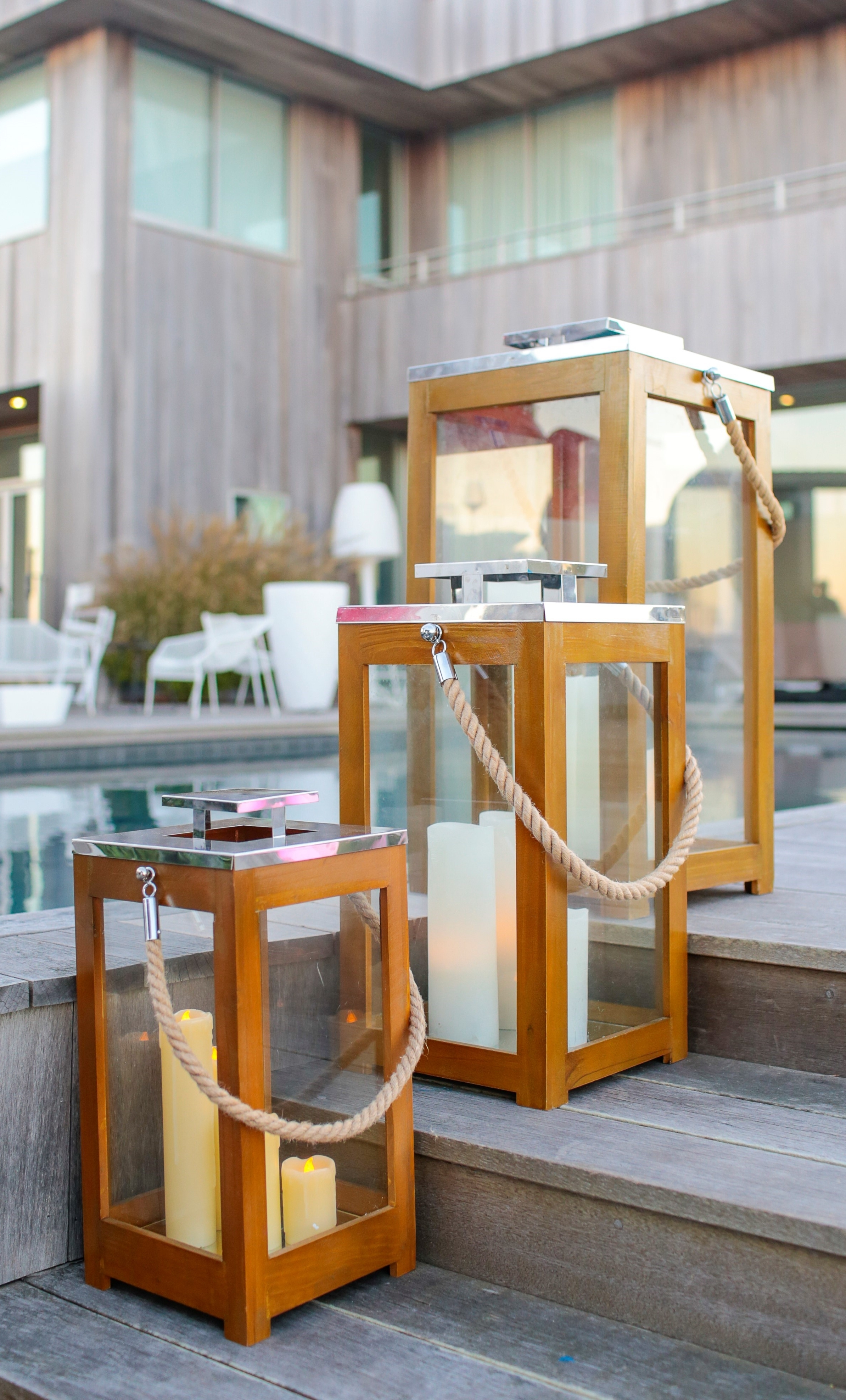 Most Current Outdoor Teak Lanterns Within Lanterns Teak Rope – Couture Outdoor (View 13 of 20)