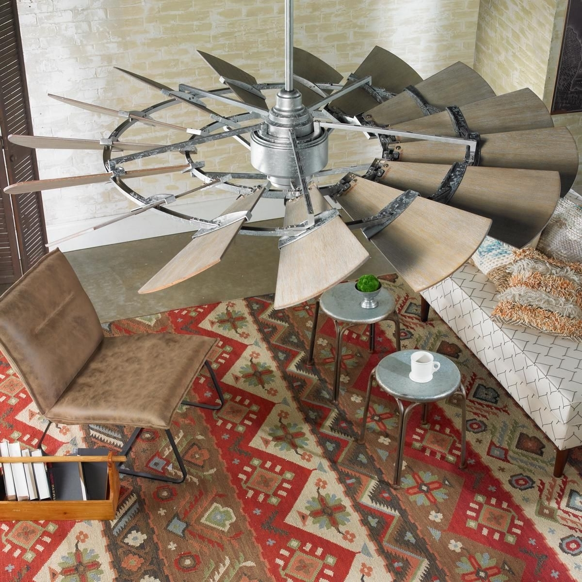 "Most Current Outdoor Windmill Ceiling Fans With Light For 60"" Outdoor Rustic Windmill Ceiling Fan (View 10 of 20)"