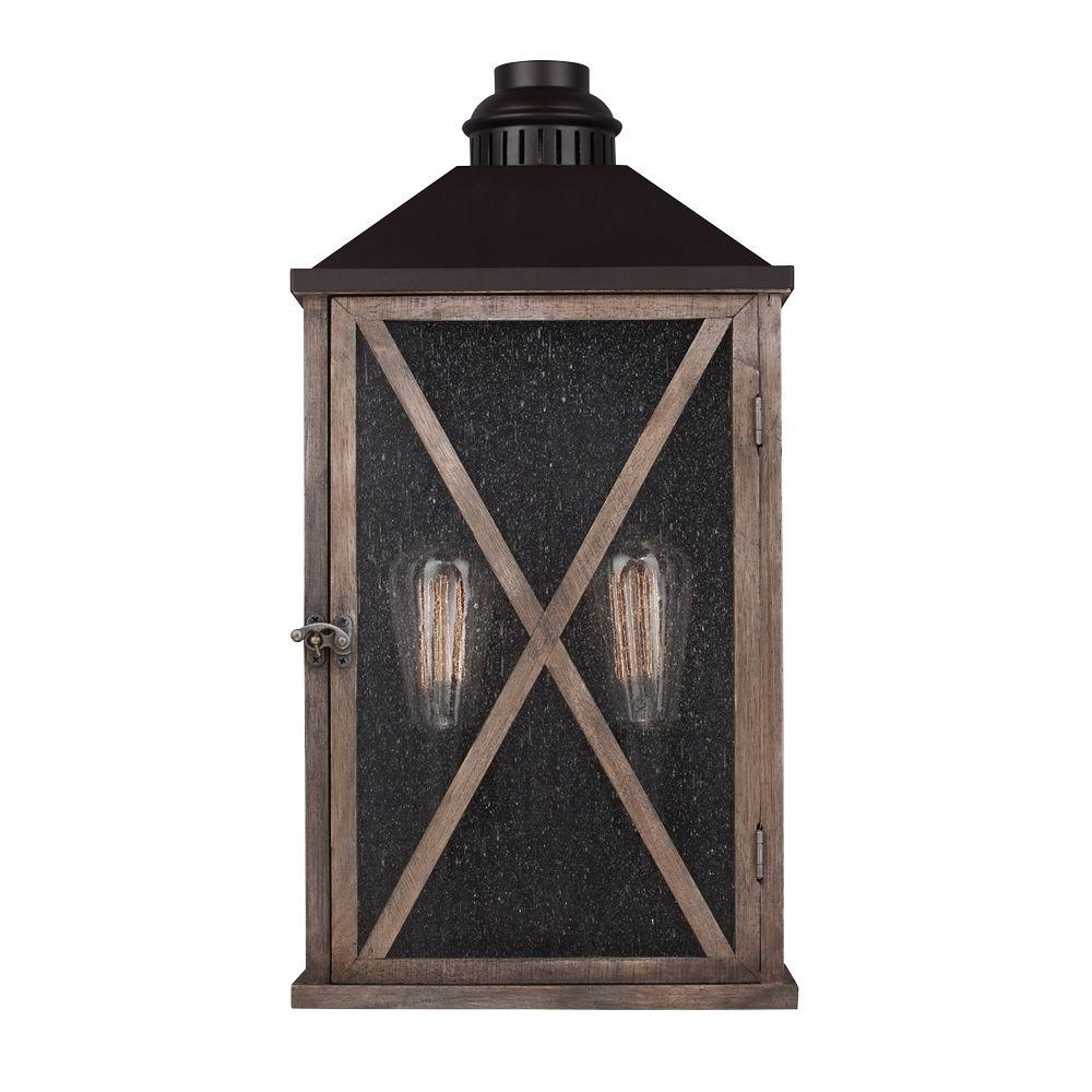 Most Current Outdoor Wood Lanterns Intended For Wood – Outdoor Lanterns & Sconces – Outdoor Wall Mounted Lighting (View 6 of 20)