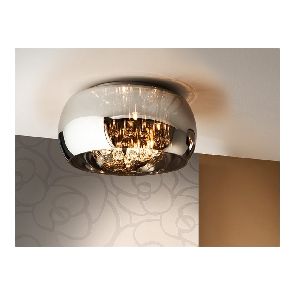 Most Current Schuller Argos Shimmered Oval Glass Shade Ceiling Light Throughout Outdoor Lanterns At Argos (View 8 of 20)