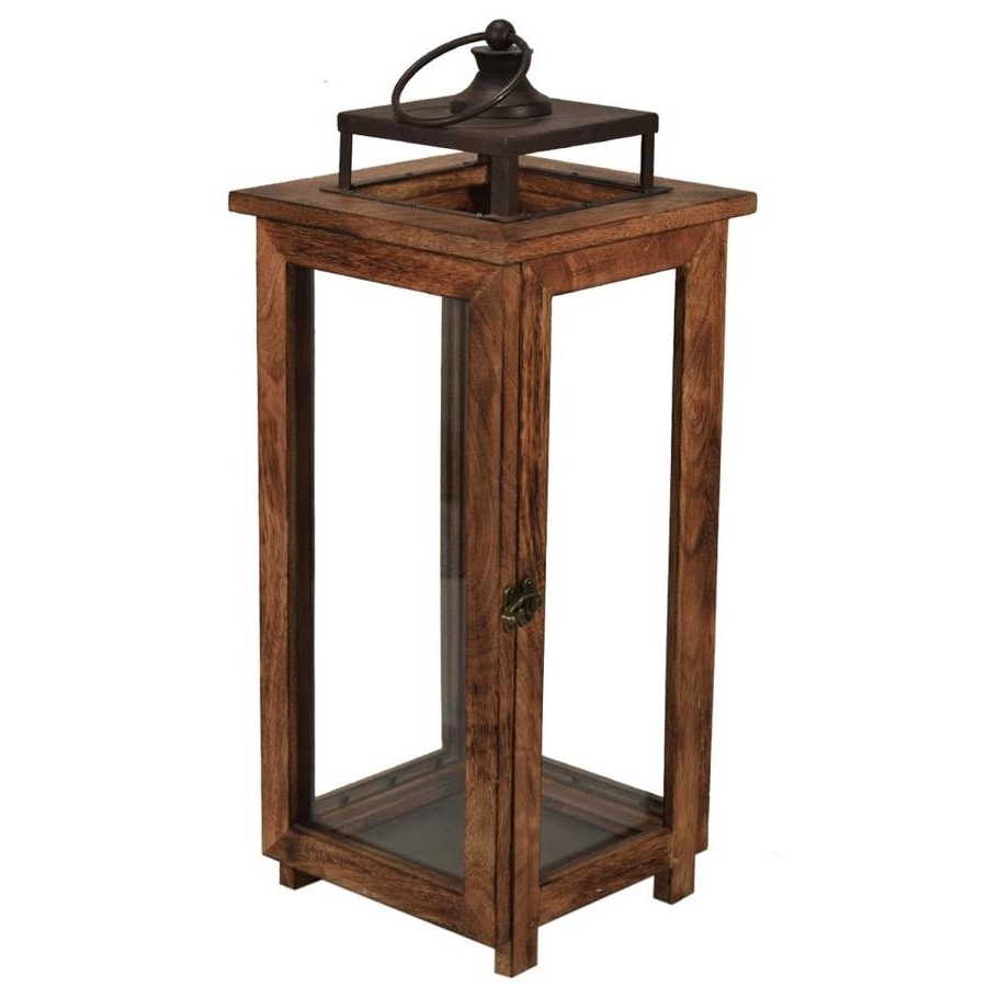 Most Current Shop Outdoor Decorative Lanterns At Lowes For Black Outdoor Lanterns (View 15 of 20)