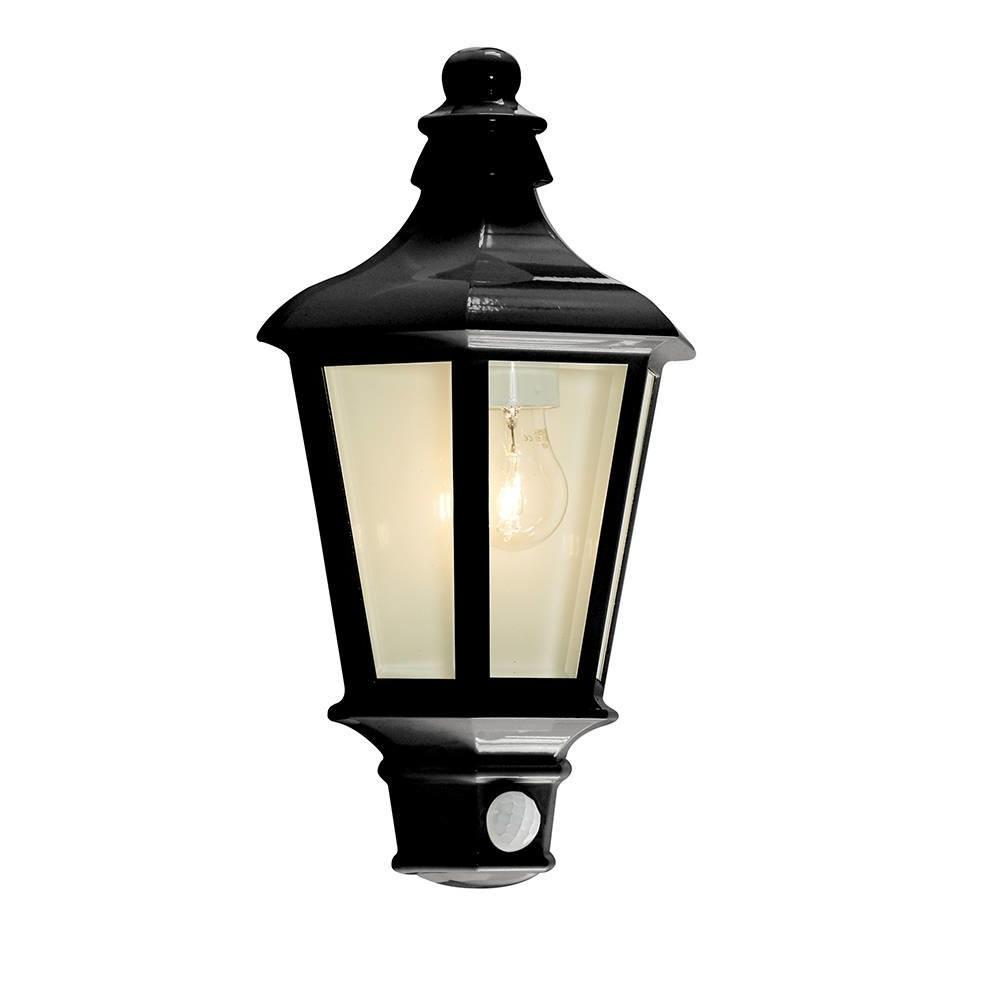 Most Popular 1 Light Outdoor Wall Half Lantern Garden Pir Motion Sensor In Outdoor Pir Lanterns (View 8 of 20)