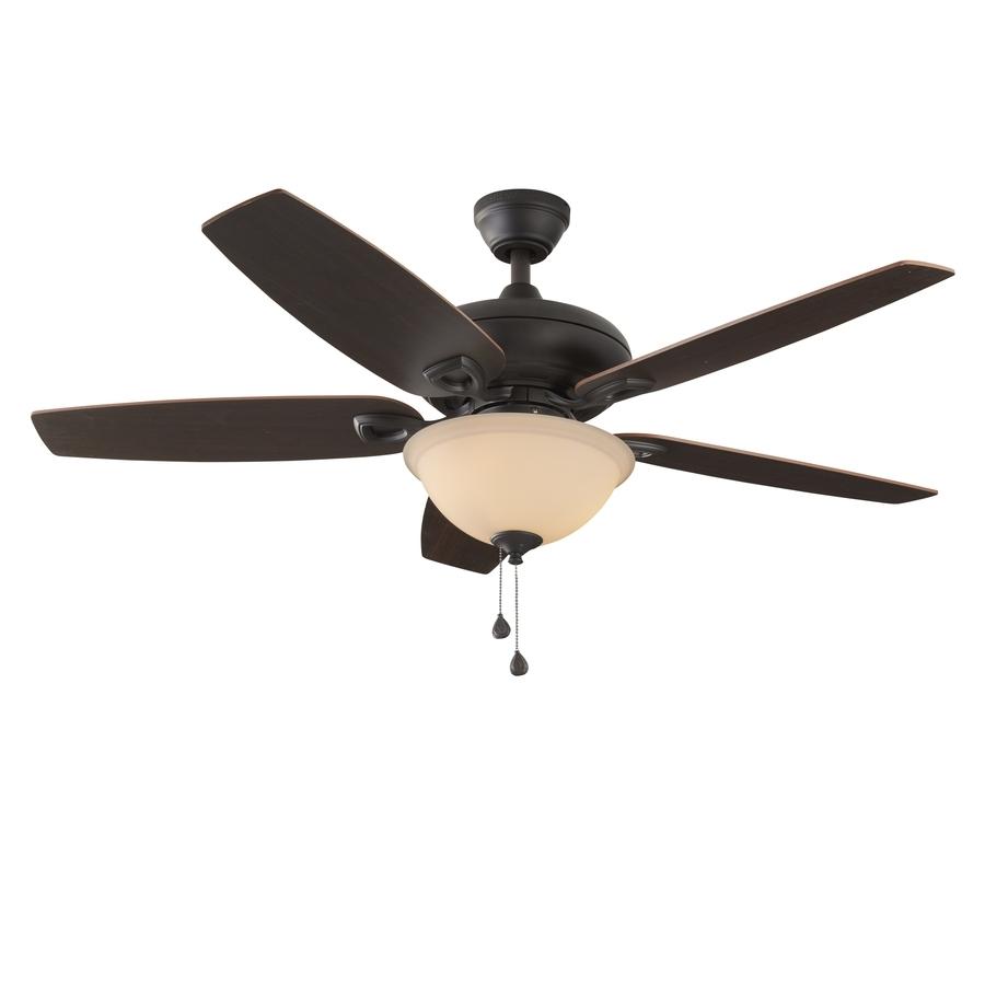 Most Popular Coastal Outdoor Ceiling Fans Regarding Shop Harbor Breeze Coastal Creek 52 In Bronze Indoor Ceiling Fan (View 14 of 20)