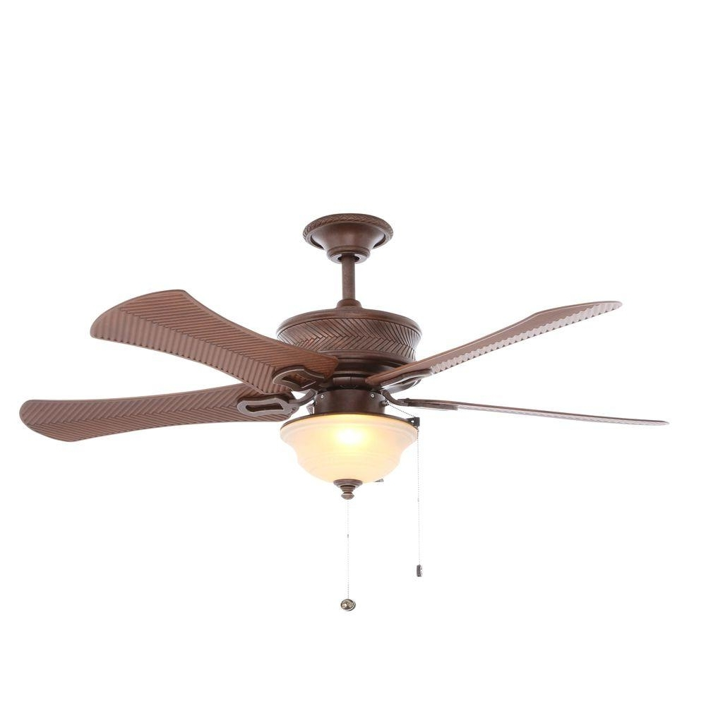 Most Popular Hampton Bay Outdoor Ceiling Fans With Lights Inside Hampton Bay Algiers 54 In (View 9 of 20)