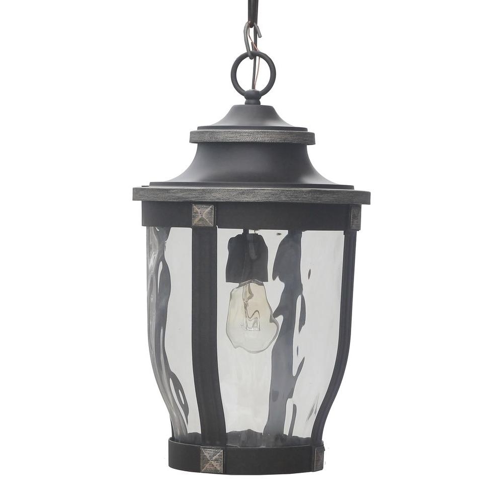 Most Popular Home Decorators Collection Mccarthy 1 Light Bronze Outdoor Chain Throughout Nantucket Outdoor Lanterns (View 9 of 20)