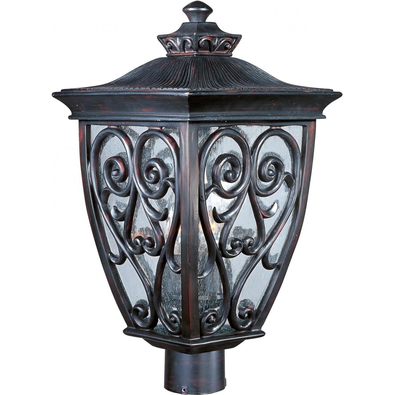 Most Popular Maxim Newbury Vx Three Light 21 Inch Outdoor Post Light – Oriental Inside Outdoor Post Lanterns (View 15 of 20)