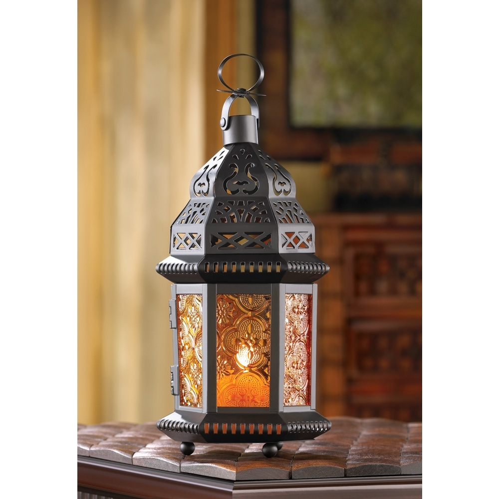 Most Popular Moroccan Outdoor Lanterns With Regard To Decorative Candle Lanterns, Large Metal Lantern Candle Outdoor Patio (View 12 of 20)
