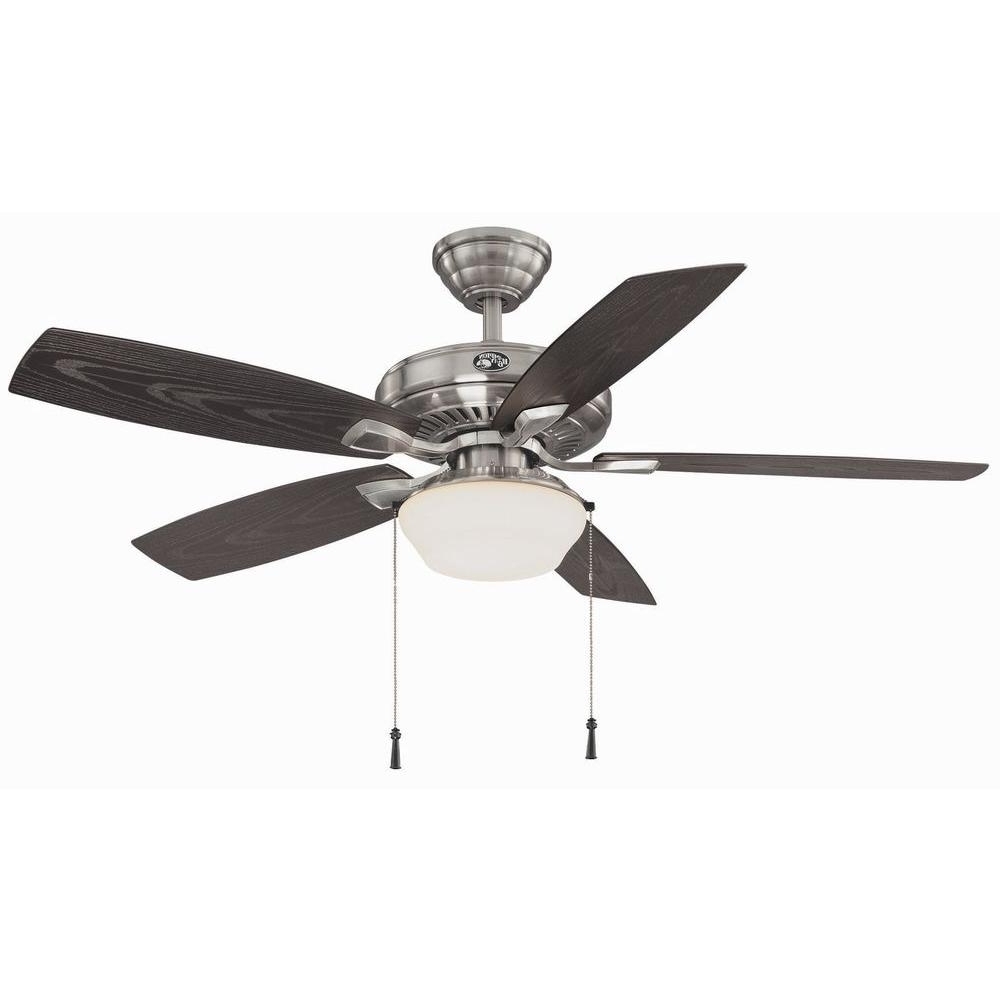Most Popular Nickel Outdoor Ceiling Fans Intended For Hampton Bay Gazebo 52 In (View 14 of 20)