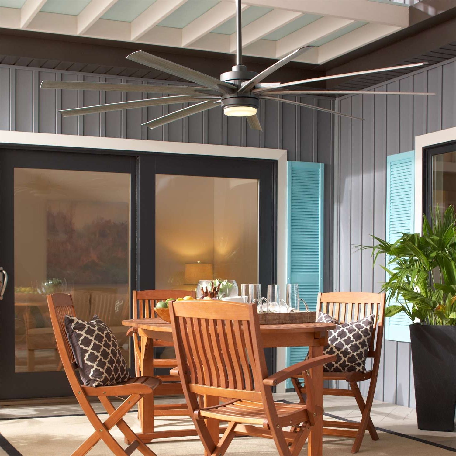 Most Popular Outdoor Ceiling Fans Under Pergola Within 4 Questions About Outdoor Ceiling Fans (View 9 of 20)