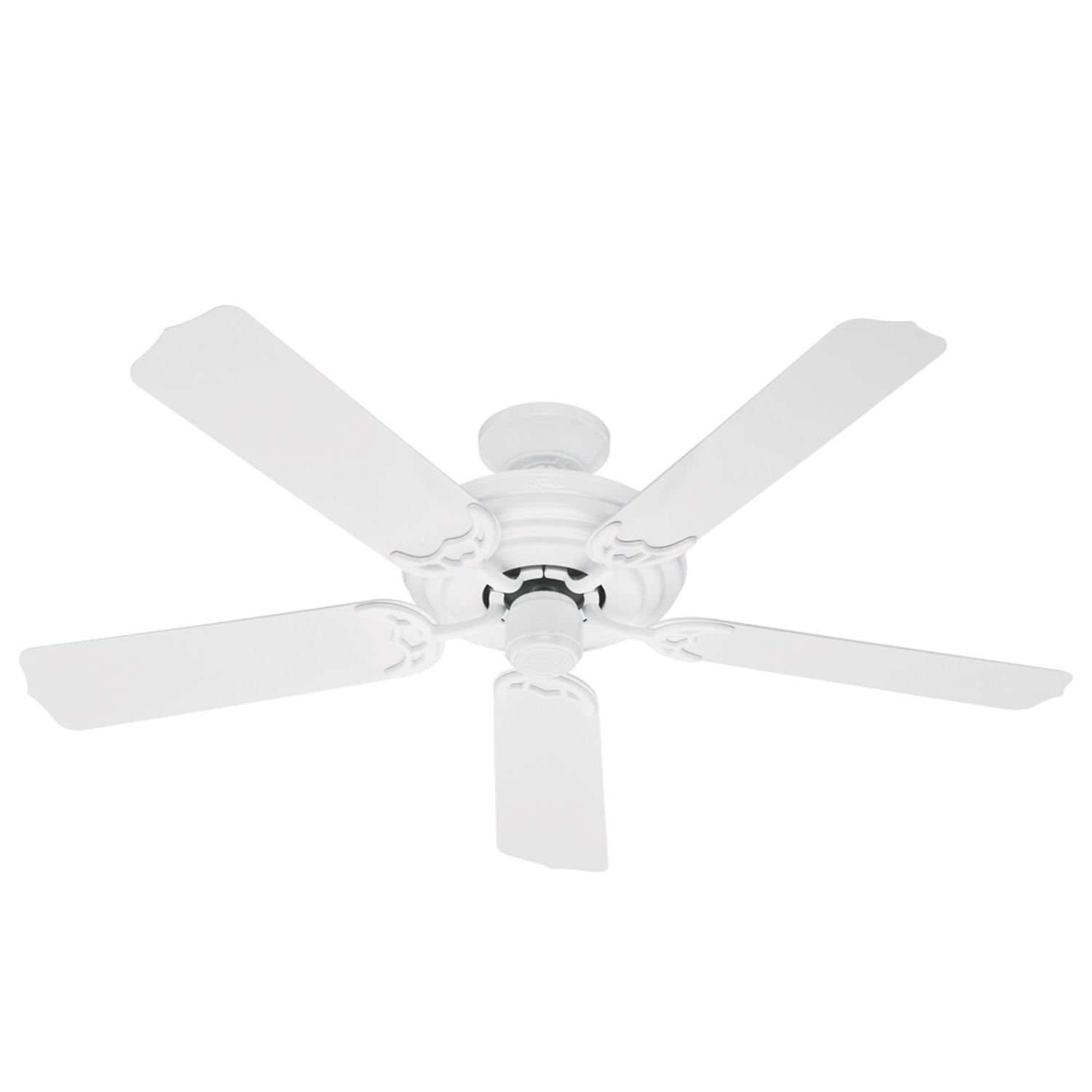Most Popular Outdoor Ceiling Fans With Plastic Blades Intended For Hunter 23566 Sea Air 52 Inch 5 White Plastic Blades Ceiling Fan (View 4 of 20)