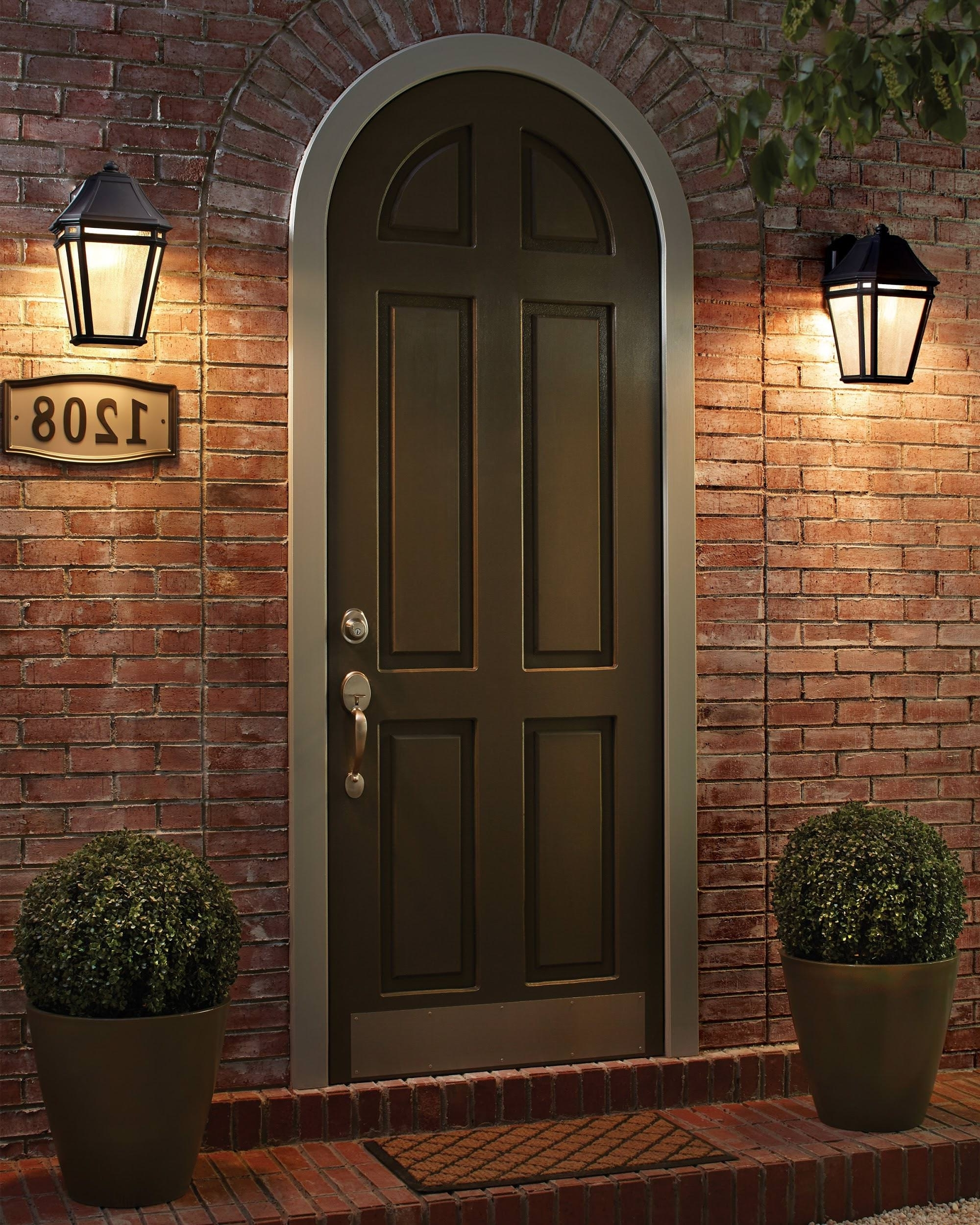 Most Popular Outdoor Door Lanterns Pertaining To 15 Different Outdoor Lighting Ideas For Your Home (all Types) (View 2 of 20)