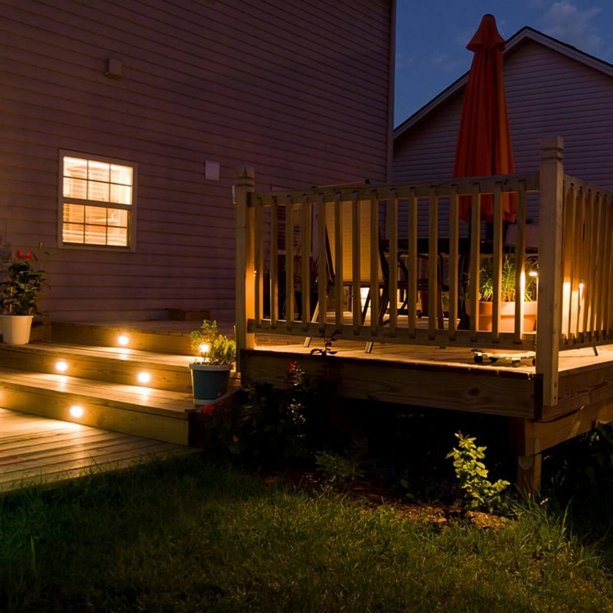 Most Popular Outdoor Lanterns For Deck Pertaining To 12 Ideas For Lighting Up Your Deck — The Family Handyman (View 2 of 20)