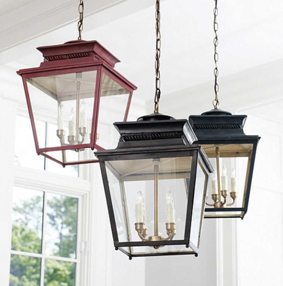 Most Popular Outdoor Lanterns For Front Porch Throughout Front Porch Rustic Home Exterior Decoration With Black And Red (View 8 of 20)