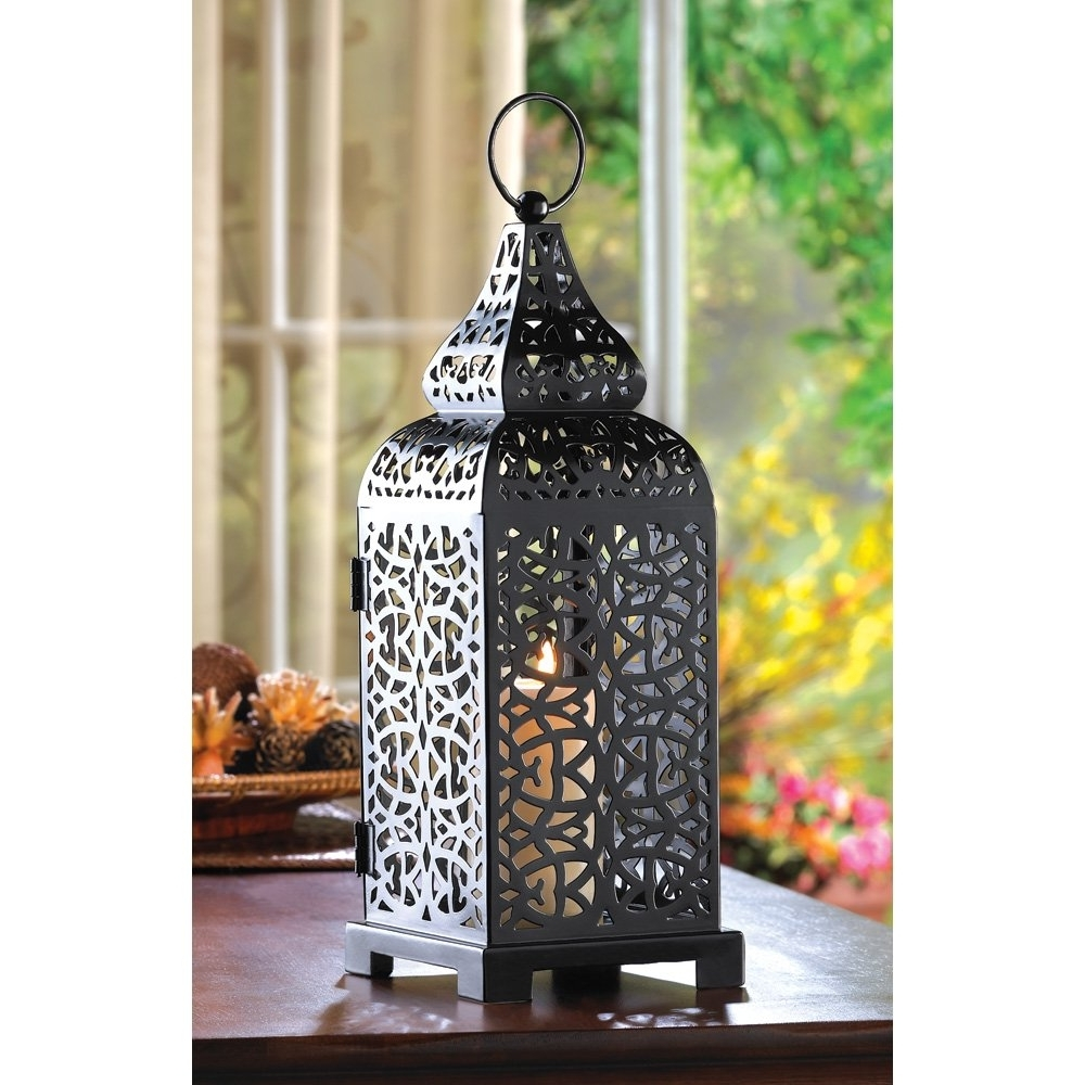 Most Popular Outdoor Lanterns For Tables With Decorative Outdoor Lanterns, Hanging Moroccan Table Lantern – Temple (View 8 of 20)