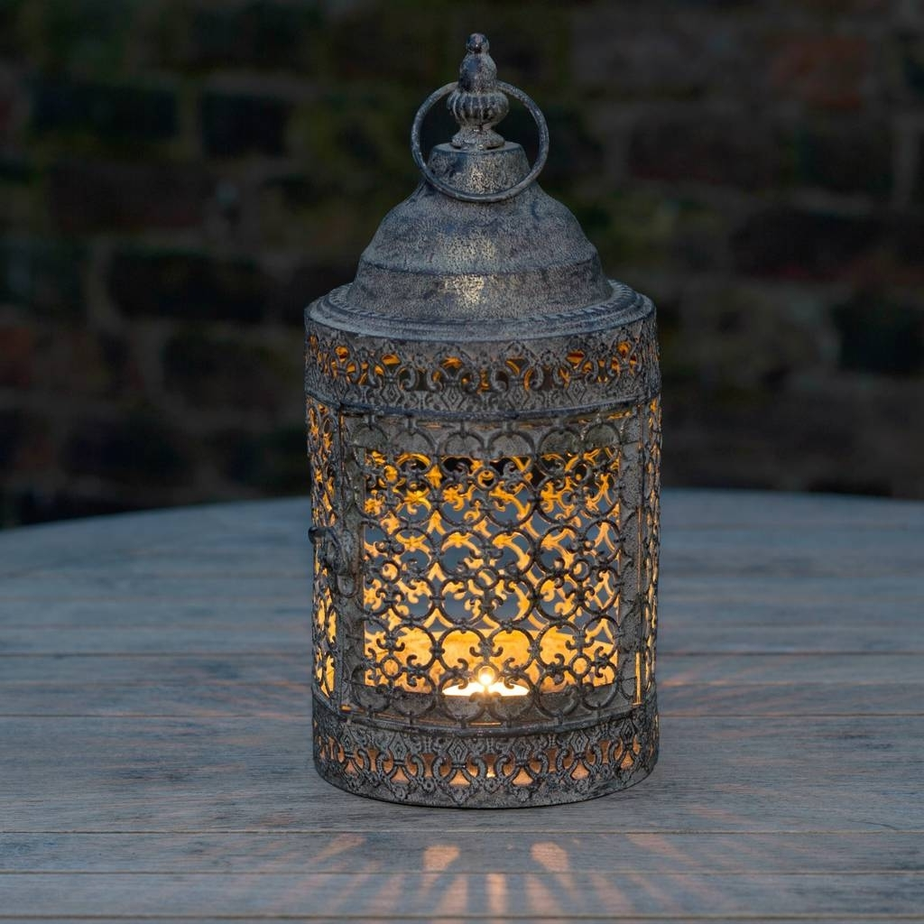 Most Popular Outdoor Lanterns Moroccan Candle Holders More Lantern Stained Regarding Moroccan Outdoor Lanterns (Gallery 19 of 20)