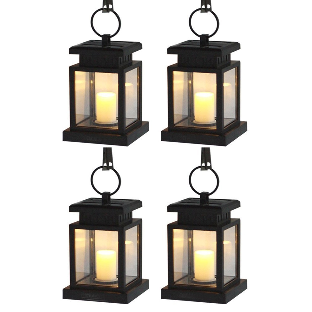 Most Popular Outdoor Vintage Lanterns In Hanging Solar Garden Lights Outdoor Waterproof Solar Lanterns (View 11 of 20)