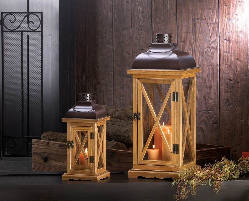 Most Popular Outdoor Wood Lanterns For Large Candles For Lanterns (View 18 of 20)