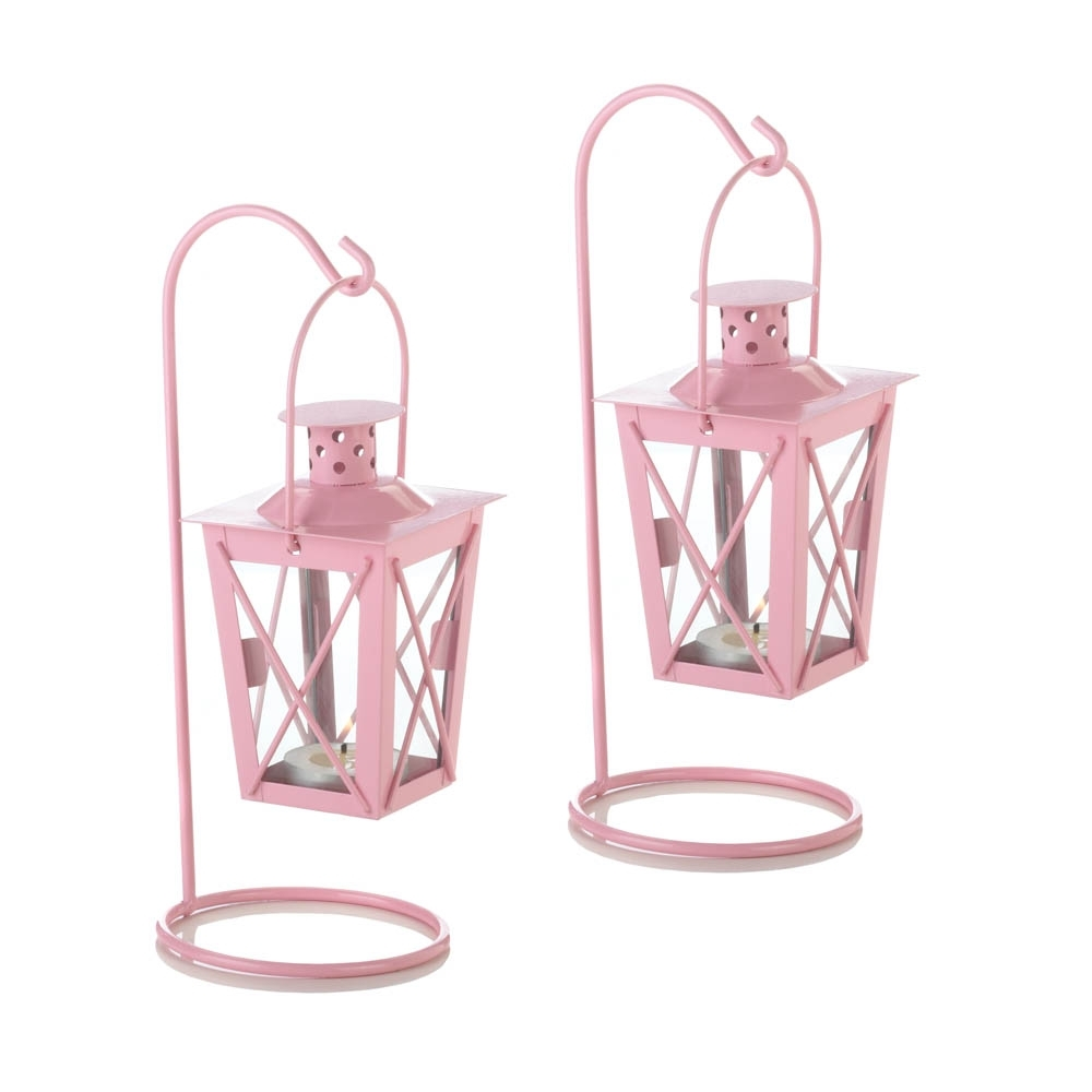 Most Popular Pink Iron Railroad Hanging Lanterns On Storenvy Intended For Outdoor Railroad Lanterns (View 16 of 20)