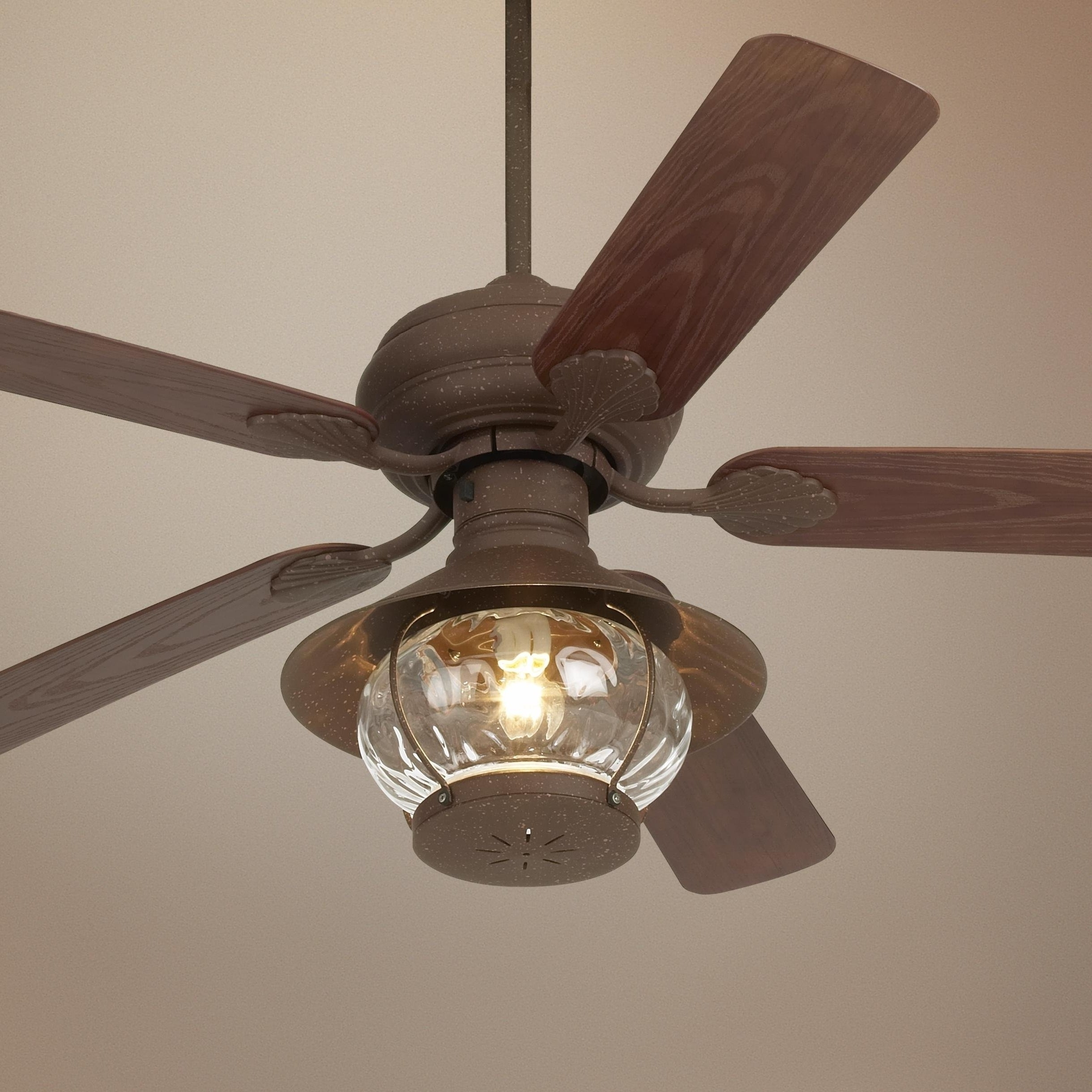 Most Popular Rustic Outdoor Ceiling Fans Pertaining To Radiant Ceiling Rustic Outdoor Ceiling Fans Western Light Pertaining (View 6 of 20)