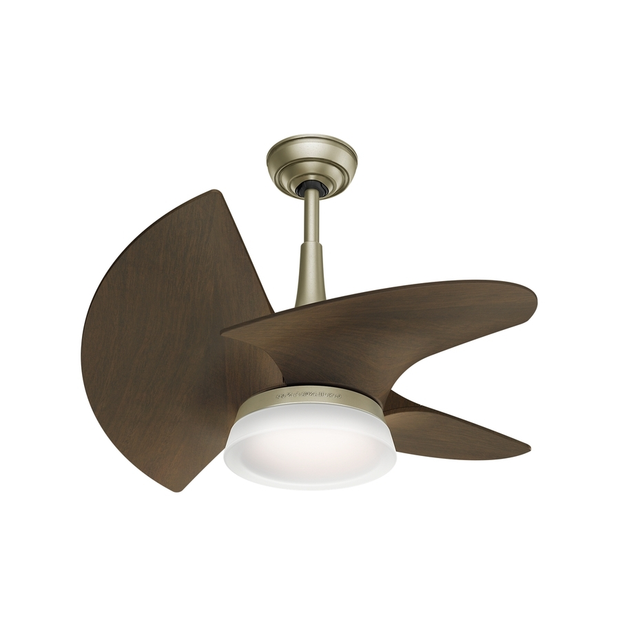 Most Popular Shop Casablanca Orchid Led 30 In Pewter Revival Led Indoor/outdoor For Casablanca Outdoor Ceiling Fans With Lights (View 19 of 20)