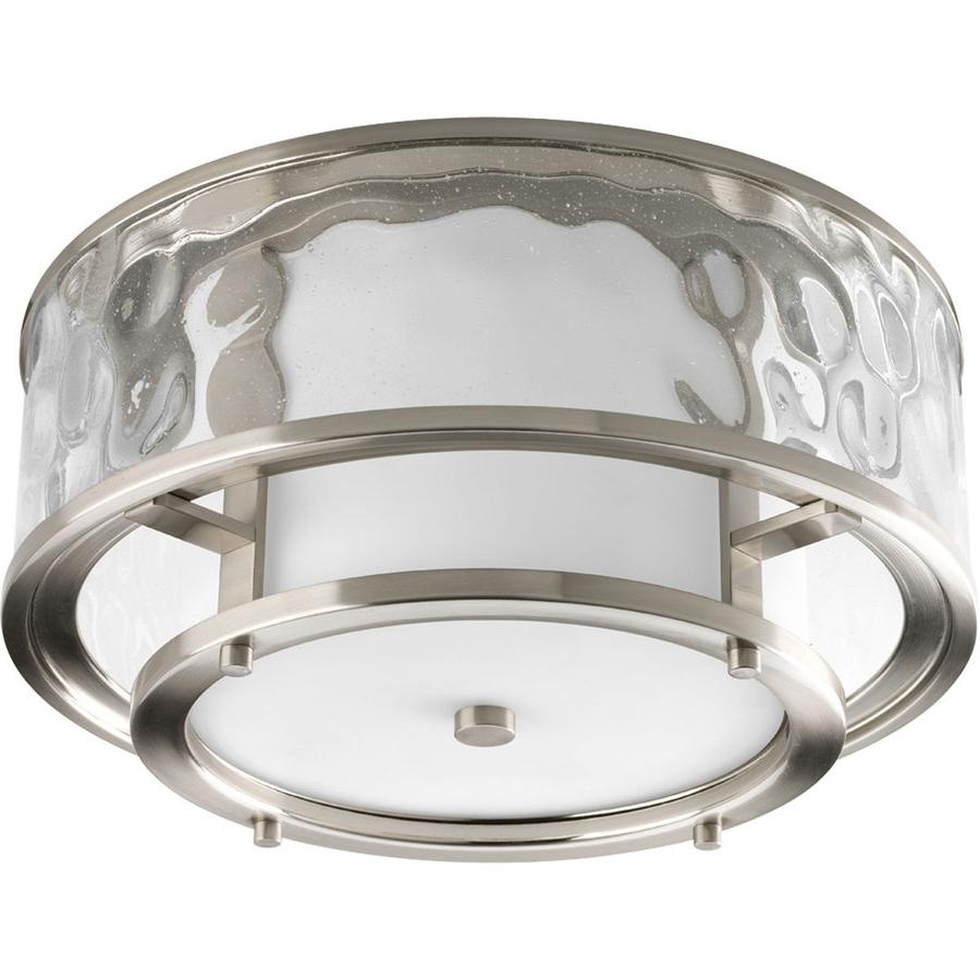 Most Popular Shop Progress Lighting Bay Court 15 In W Brushed Nickel Outdoor Regarding Nickel Outdoor Lanterns (View 8 of 20)