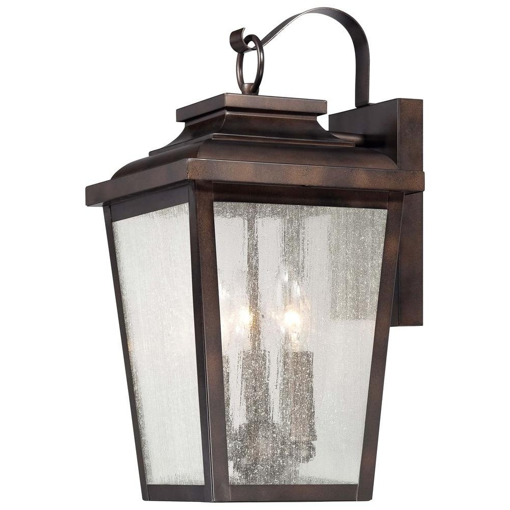 Most Popular The Great Outdoorsminka Lavery Irvington Manor 3 Light Chelsea Intended For Large Outdoor Rustic Lanterns (View 18 of 20)