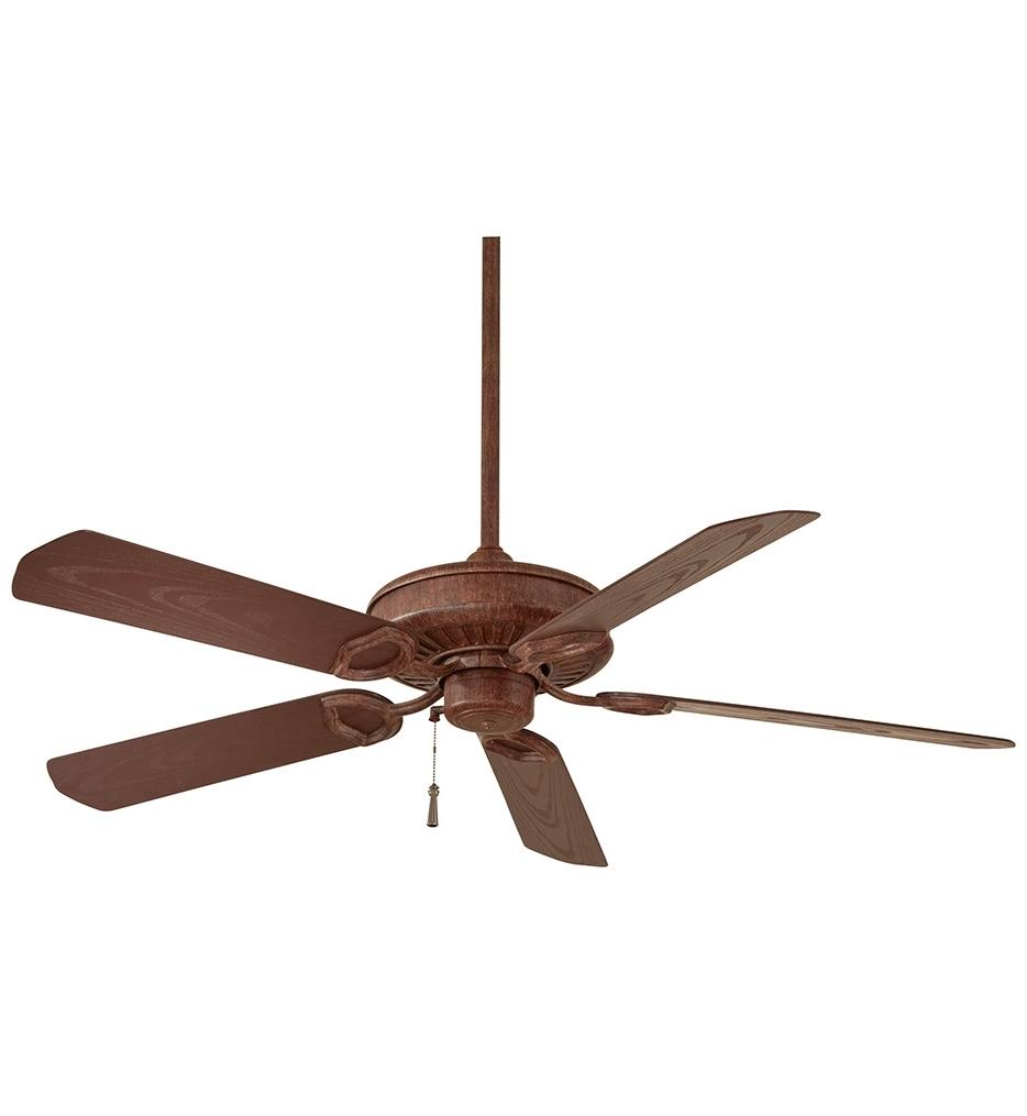 Most Popular Vintage Outdoor Ceiling Fans Regarding Lamps: Minka Aire – F589 Vrt – Sundowner 54 Inch Vintage Rust (View 14 of 20)
