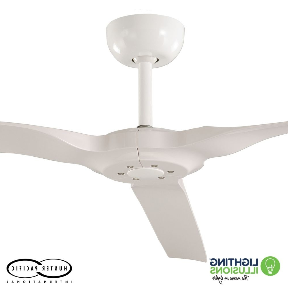 """Most Popular White Radical 2 Indoor/outdoor 60"""" 3 Blade Dc Ceiling Fan With In Sunshine Coast Outdoor Ceiling Fans (View 11 of 20)"""