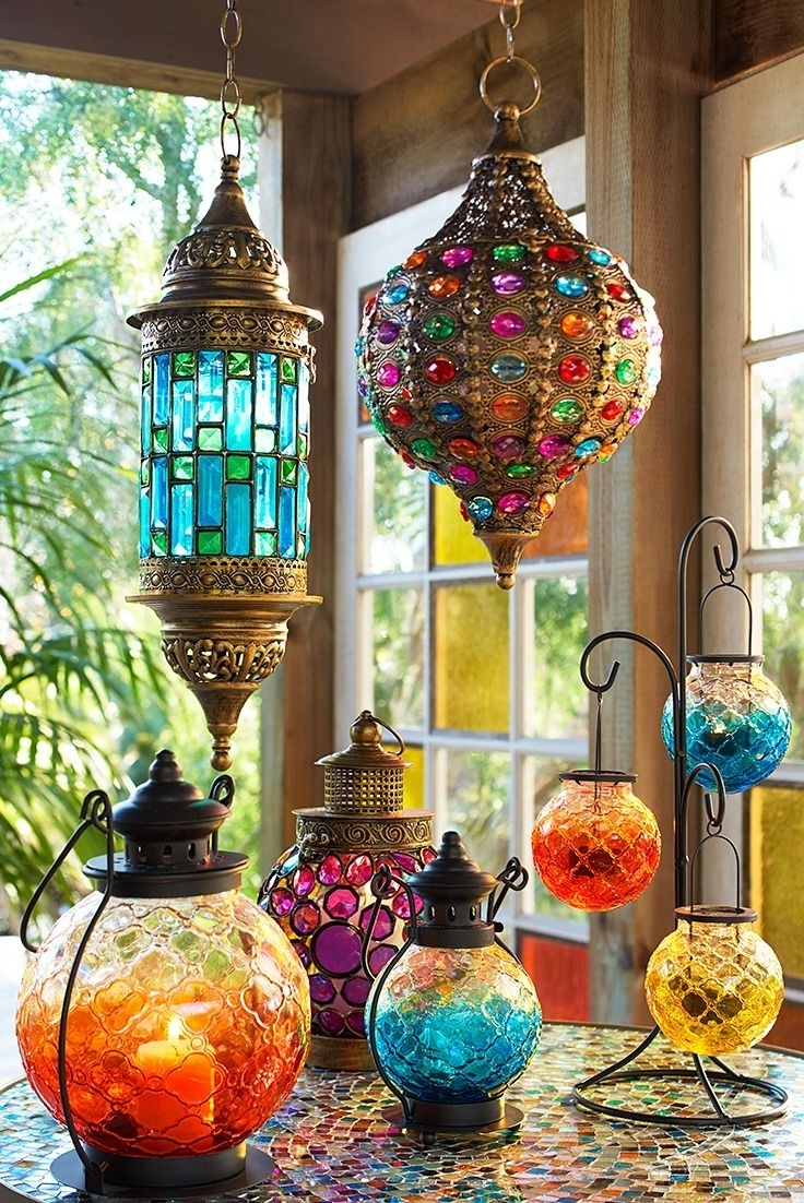 Most Popular With Hand Stained Glass Panels And Jewel Encrusted Everything, Pier Pertaining To Colorful Outdoor Lanterns (View 11 of 20)