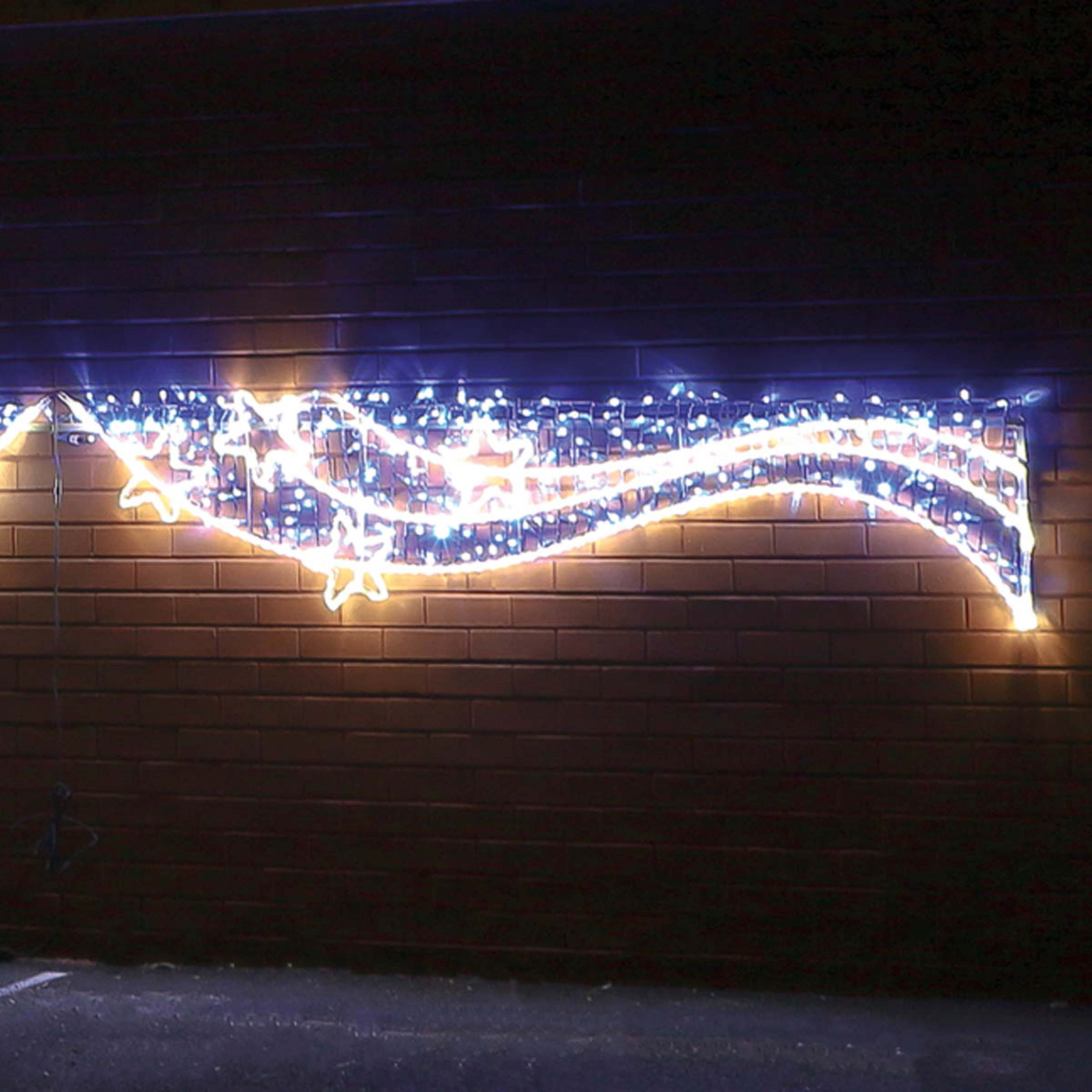 Most Recent 5M Aluminium Outdoor Rope Light Christmas Snowflakes Motif, Twinkle Leds Pertaining To Outdoor Christmas Rope Lanterns (View 8 of 20)